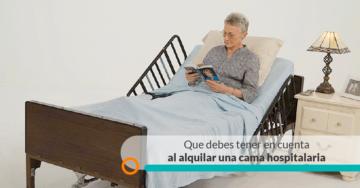 RENTA CAMA HOSPITALARIA CONCEJOS UTILES